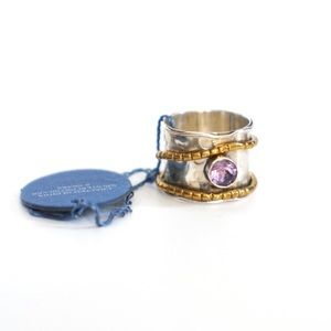 Handcrafted Sterling Silver Amethyst Ring